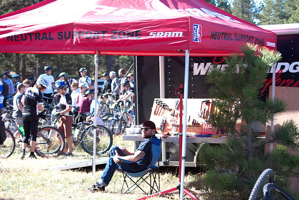 A rare time Cam from Wheat Ridge Cyclery get a break! Photo Carrie Dittmer.