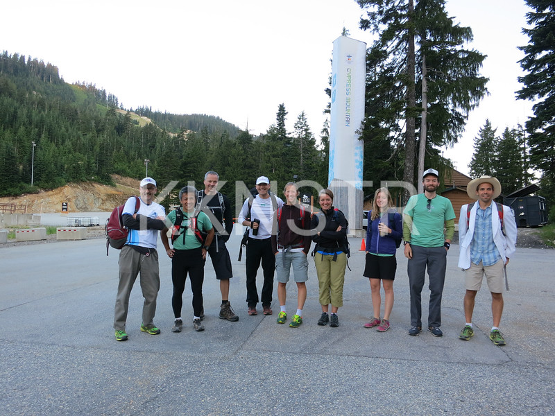 Black Mtn Aid Station Crew - meet before dawn to hike to top of Black Mtn.   Photo by Herman Kwong.