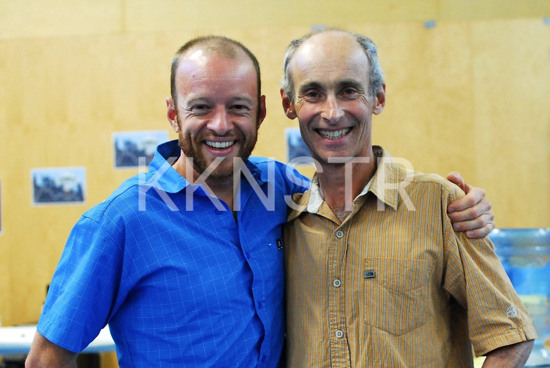 Smiles says it all (Gary Robbins and Peter Findlay)