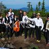 "Black Mountain Aid Station Crew ""Black Tie"" service.  Photo by Karen Chow."