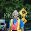 Start line volunteer.  Photo by Ken Blowey