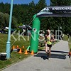 Women winner crosses the Finish Line
