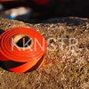 Follow the orange/black tape