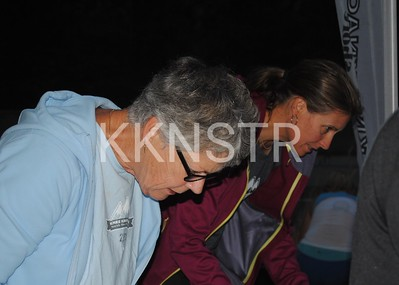 Start line volunteers - runner checkin