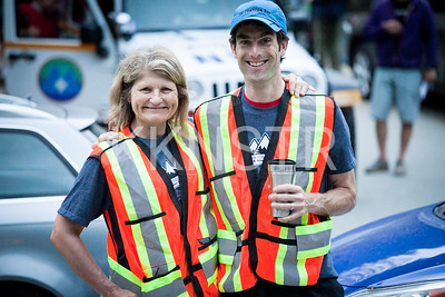 Start line volunteer marshals