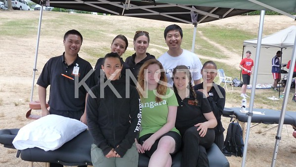 Moveo Massage Therapists  at the Panorama Park (Finish Line)