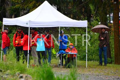 Cypress aid station volunteers.  Photo by Salvador Miranda.