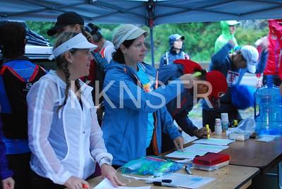 Start line check-in volunteers.  Photo by  Karen Chow
