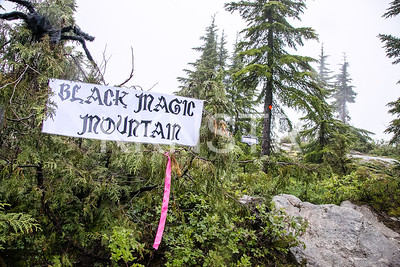 "Entering Black Magic Mountain ""Aid' Station"