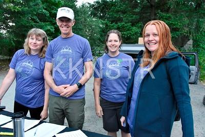 Start line volunteers.   Photo by Karen Chow