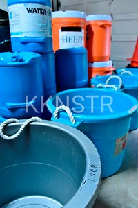 Tubs, Water and Heed containers  assembled
