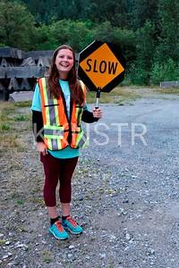 Parking volunteer at start line area