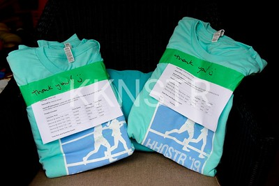 Volunteer t-shirt bundle and ready for pickup