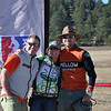 Tim Scott, Kate Rau and Matt Fritzinger celebrate at State Championships.