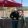 Cam from Wheat Ridge Cyclery very excited to provide neutral support at the races! Photo Carrie Dittmer.