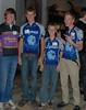 Student athlete volunteers Grant Ellwood, Alex Willie, Chase Willie, and Austin Bradley. Photo by Sarai Snyder.