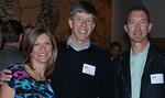 Lisa and Doug Hudson, Feedback Sports and Dave Edwards, Primal Wear enjoy the evening.  Photo by Jake Kirkpatrick.