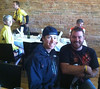 Tom Danielson with Cole Wienemann winnter of Primal Wear essay contest. Thanks Primal Wear!