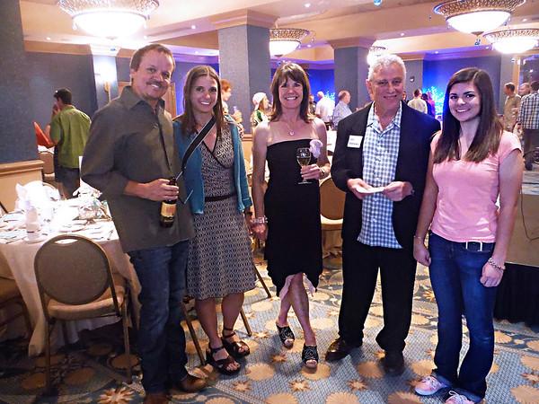 Austin Smart, Carrie Dittmer, Kate Rau, Herschel Goldberg and Arianna Dittmer, student volunteer and former Colorado League rider. Photo Tammy Welson.