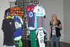 Alison O'Neill, Primal Wear looks at the jersey display. Photo Rob Noble.