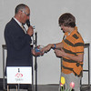 Larry Grossman, MC and Harry Chapman choose door prize winning ticket. Photo Rob Noble.