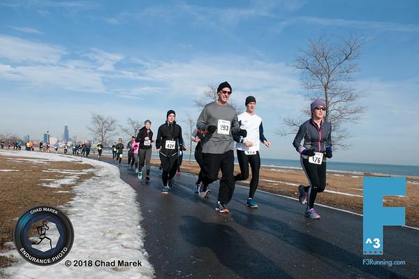 F3 Lake Half Marathon - 1/20/2018 - South Bound