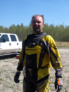 don after the short course race, he loved the dust