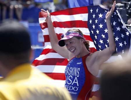 Sarah Haskins Hyvee 2008 Finish 1