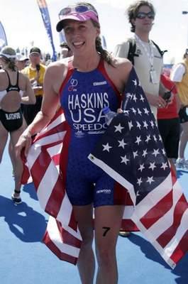 Sarah Haskins Hyvee 2008 Finish