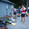 First leg - paddle!  Prepping for race start