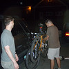 Loading the bikes on the back of the XTerra