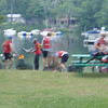 Lots of movement as teams prep their boats