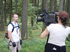 Drew on camera