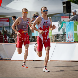 Simon Whitfield and Kyle Jones