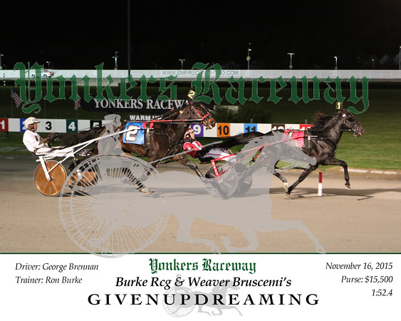 20151116 Race 10- Givenupdreaming