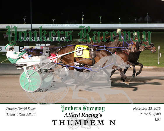 20151123 Race 5- Thumpem N