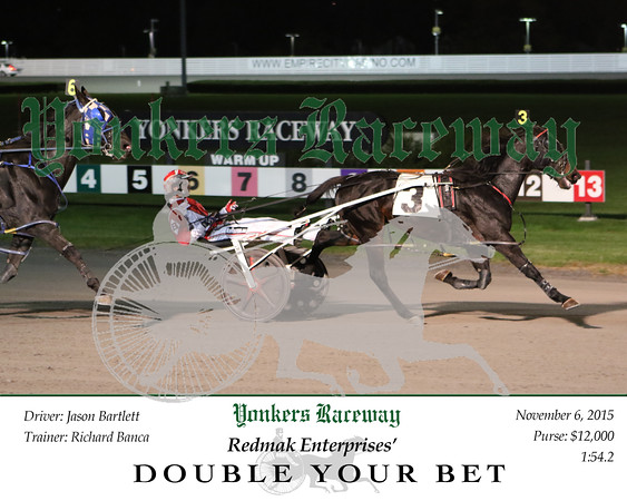 20151106 Race 3- Double Your Bet