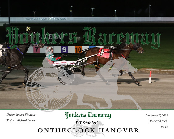 20151107 Race 1- Ontheclock Hanover