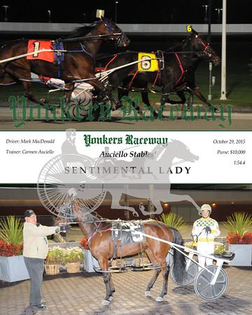 10292015 Race 2- Sentimental Lady