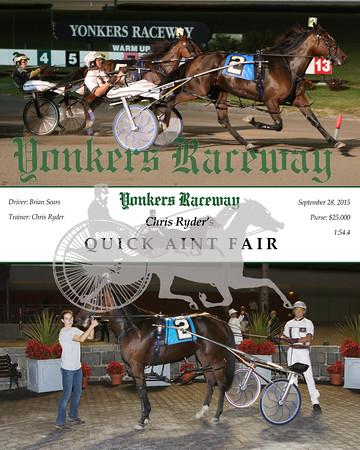 20150928 Race 4- Quick Aint Fair