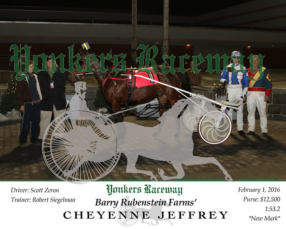 20160201 Race 5- Cheyenne Jeffrey