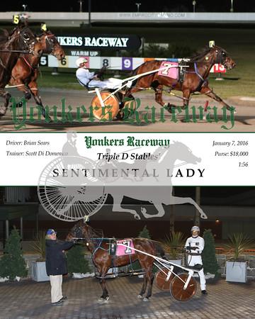 20160107 Race 1- Sentimental Lady