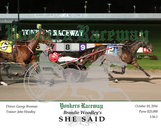 20161010 Race 10- She Said
