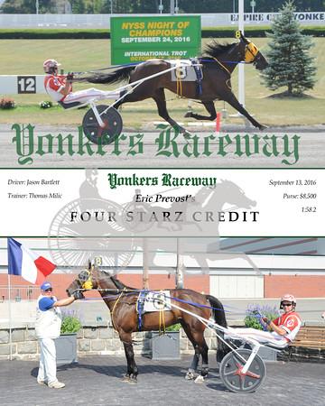 20160913 Race 5- Four Starz Credit