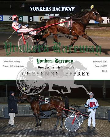 20170202 Race 5- Cheyenne Jeffrey