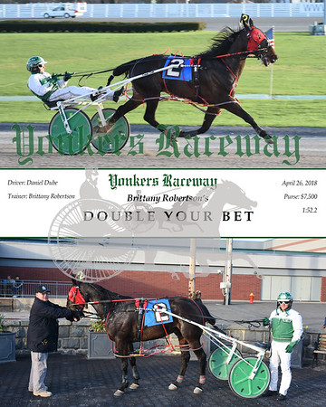 20180426 Race 1- Double Your Bet