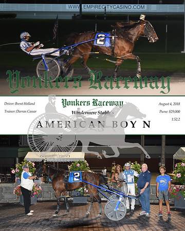 08042018 Race 11-American Boy N