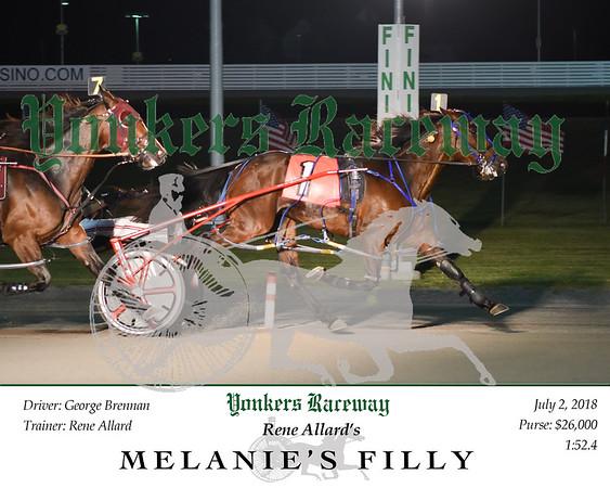 20180702 Race 8-Melanie's Filly