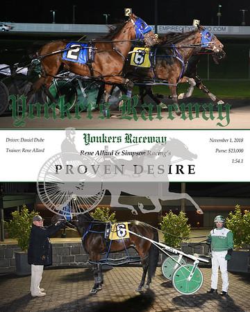 20181101 Race 9-Proven Desire