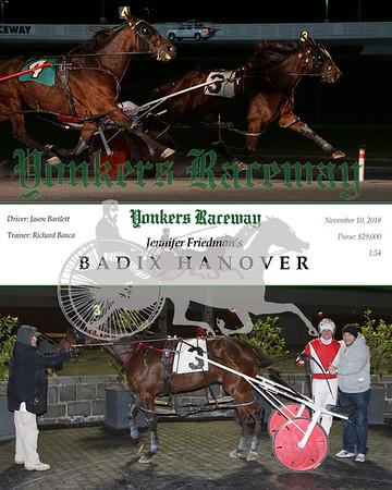 20181110 Race 5- Badix Hanover
